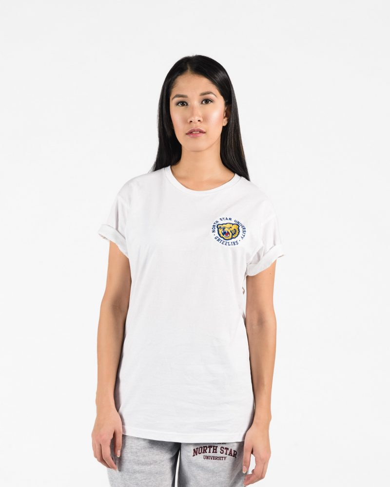 Premium T-Shirt 102 in white on woman