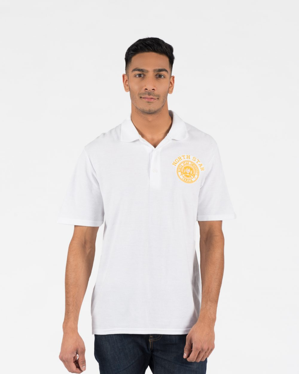 Premium Golf Shirt 108m in white