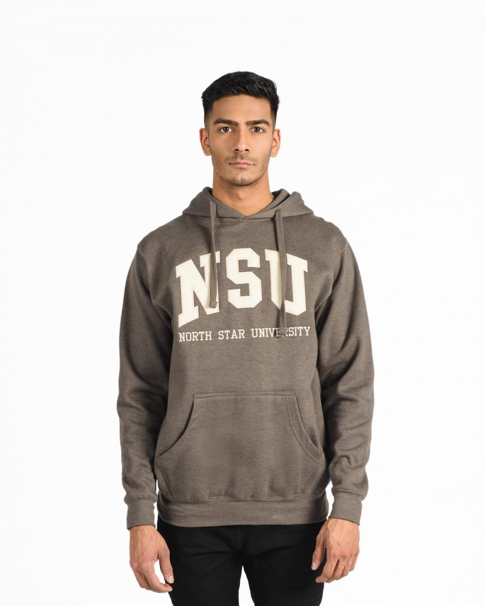 Signature Hood 201 in brown on male model.
