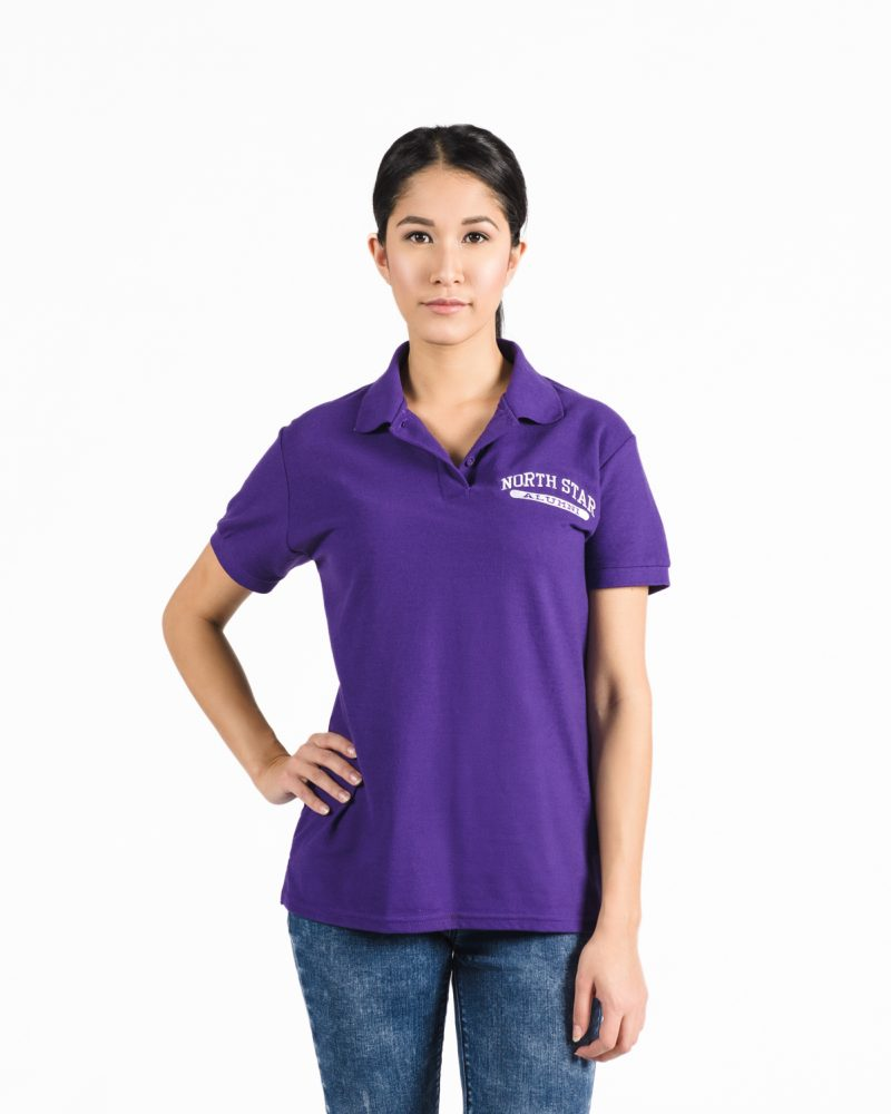 Women's Premium Golf Shirt 305 in purple.