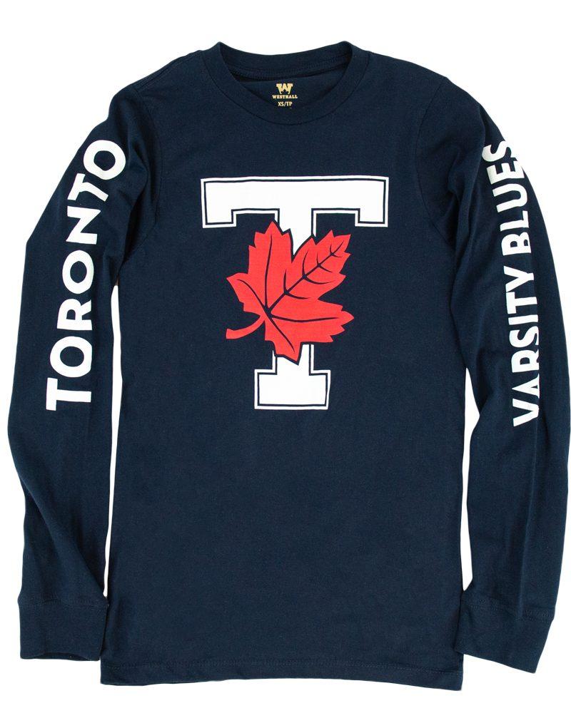 Navy Unisex Longsleeve T-Leaf Shirt