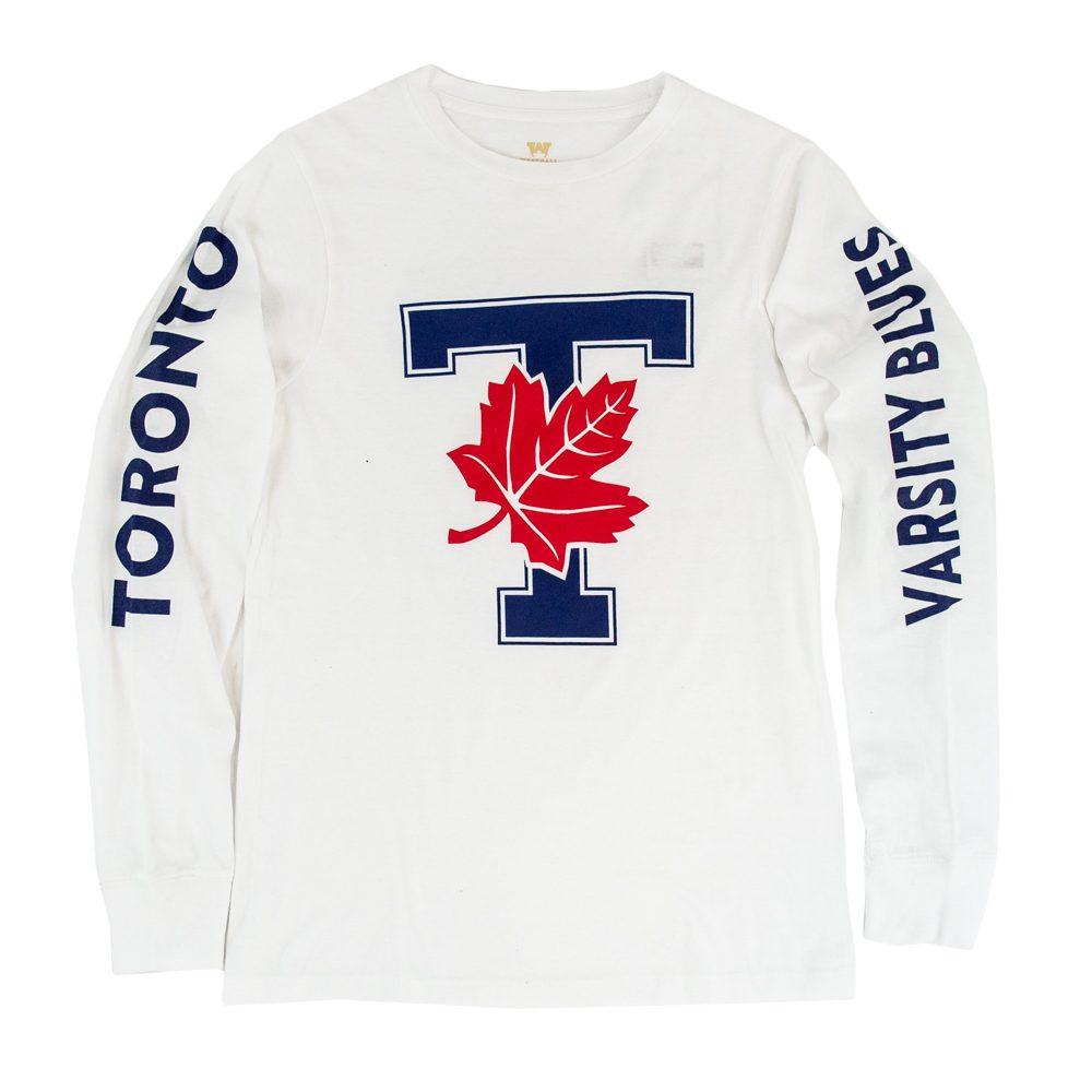 White Unisex Longsleeve T-Leaf Shirt