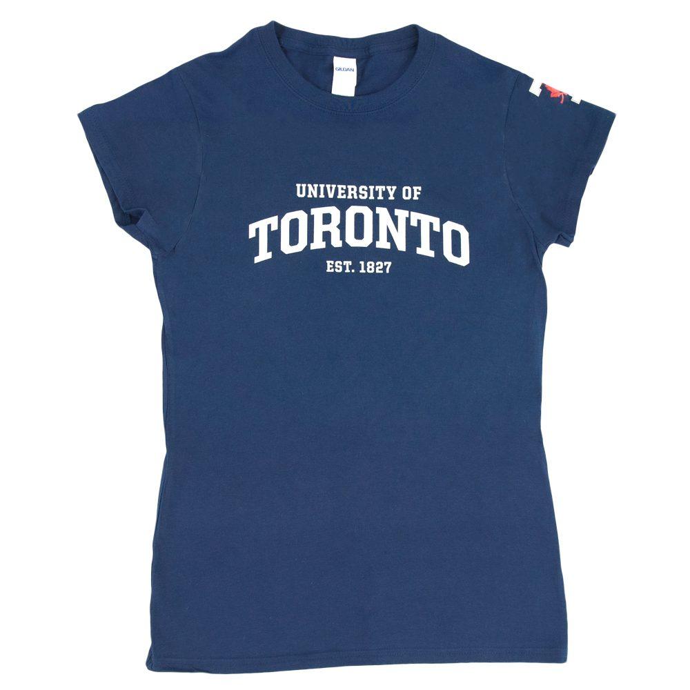 Navy Women's Athletic Workdmark T-Shirt