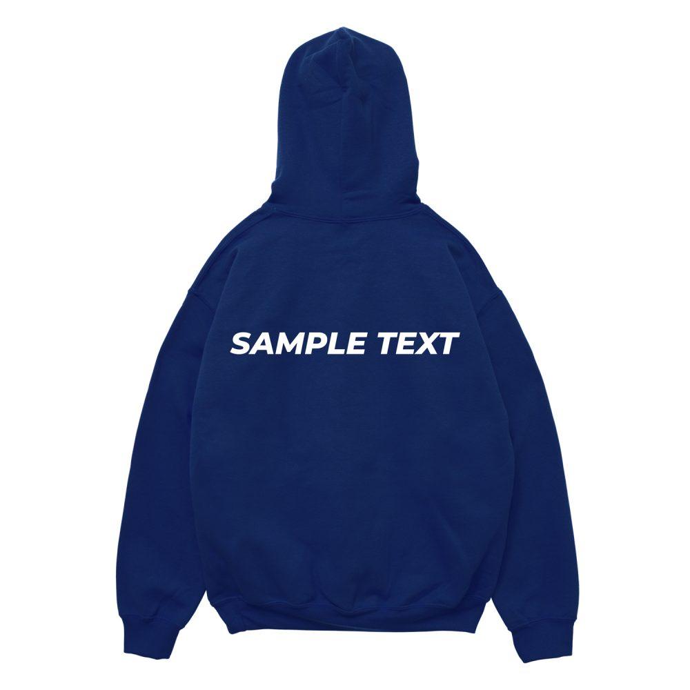 Hoodie Custom Text Sample