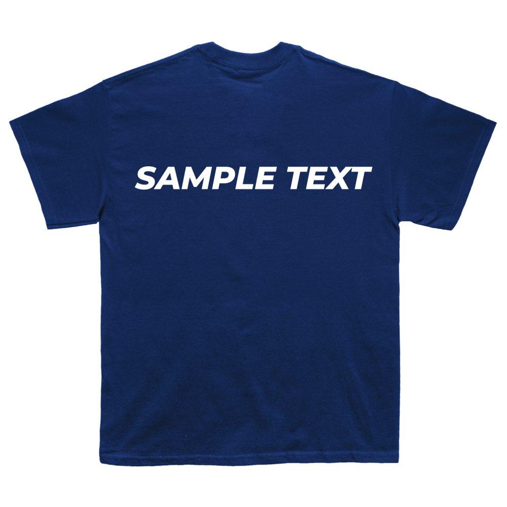 T-Shirt Custom Text Sample